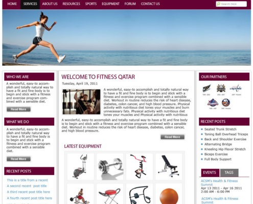 FitnessQatar 495x400 - Dubai Web Design